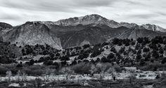 Pikes Peak Portrait. From Garden of the Gods, Colorado, 2015