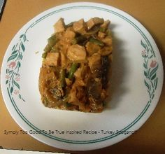 Symply too good to be true Book 2 Page 28 - Chicken Stroganoff recipe *I substituted Turkey for the Chicken and Served with Pasta instead of Rice Chicken Stroganoff, Stroganoff Recipe, Diet Recipes, Nom Nom, Pork, Turkey, Healthy Eating, Rice, Pasta