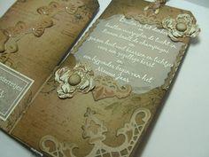 Anita 's Warm Greetings: tag in vintage style