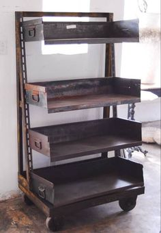 This industrial cabinet would make a great dresser or kitchen island.
