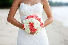 My enzoani dress with coral flowers