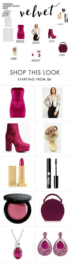 """""""VELVET"""" by caitlin-badillo on Polyvore featuring WearAll, Boohoo, Lipstick Queen, Charlotte Russe, Bobbi Brown Cosmetics, Bertoni, Oris, Amour, Margot McKinney and Bling Jewelry"""