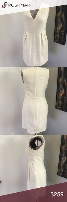 ADAM LIPPES Cotton Weave Silk Lined Dress Beautiful dress from famed designer.  This is NOT FOR TARGET.  This is a designer dress.  The silk feels like love on your body in this fully lined beautiful dress. Adam Lippes Dresses Midi