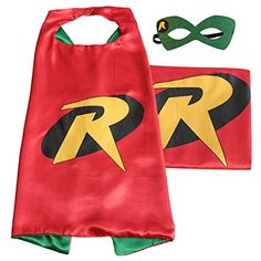 (Robin) ROXX Cape and Mask Costume for Child Superhero Superman Kids Girl and Boy - http://our-shopping-store.com