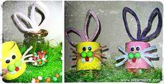 ❀ ✄ DIY Pots Lapin Pâques / DIY Easter Bunny Jars ✄ ❀ http://www.creamalice.com/Coin_conseils/1-loisirs_creatifs_2010/03-Bocaux_de_Paques_Lapinoux/Bocaux_de_Paques_Lapinoux.htm