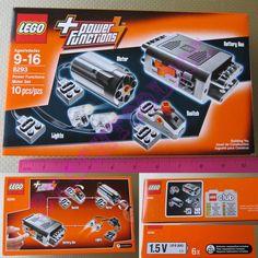 New LEGO TECHNIC Power Functions Motor Accessory Set 8293 - Battery Box M-Motor #LEGO