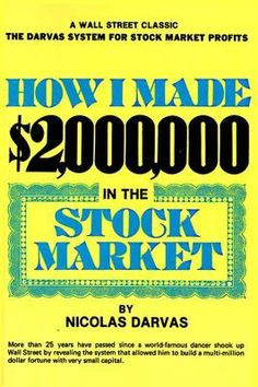 How I Made $2,000,000 In The Stock Market -- Key takeaways: #1 the Darvas box entry and management system where you know your entry and stop before you enter the trade, and trail stops at certain points; #2 Darvas could manage positions through newspaper reports while traveling the world as a dancer, so constantly sitting at your computer may not always be beneficial; #3 Be lucky sometimes and capitalize on it when you are (Darvas did once or twice to help him get to $2M).