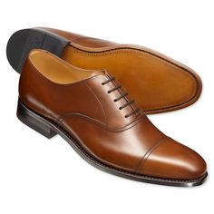 Brown Carlton Oxford shoes | Men's business shoes from Charles Tyrwhitt | CTShirts.com