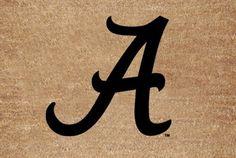 "Alabama Flocked Door Mat by The Memory Company. $22.99. Size 29.2"" x 19.5"". NCAA Alabama Flocked Door Mat"