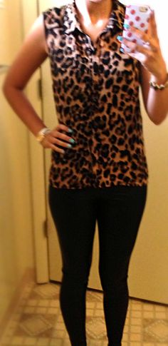 Leather & leopard.