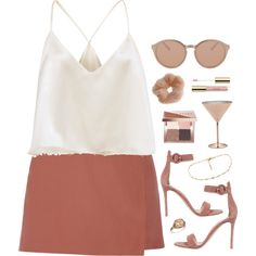 A fashion look from June 2016 featuring Theory mini skirts, Gianvito Rossi sandals and LE VIAN rings. Browse and shop related looks.