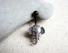 Elephant Belly Button Rings Post Belly Button by BitsOffTheBeach
