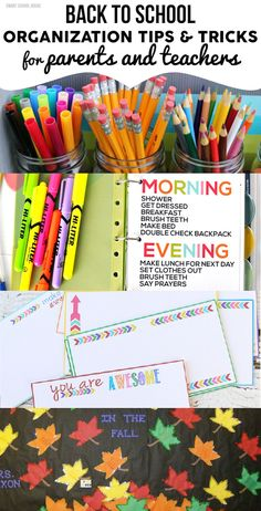 Back to School Organization Tips and Tricks for Parents and Teachers #organization #backtoschool