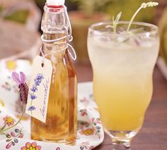 Lavender Lemonade with Basil Infused Tequila  Fruit  Herb-Infused Drink Recipes via Cost Plus World Market  #WorldMarket Beverages, Recipes, Drinks, Entertaining