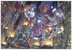 Galactus vs Apokolips by Giorgio Colomo
