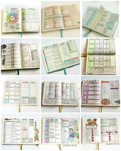 A few of my 2016 favorite bullet journal pages. Weekly. #bulletjournal