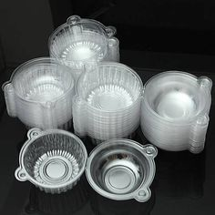 Description: 100Pcs Round Cupcake Muffin Cookie Food Box Holder Container Kitchen Tools There are 100 pieces clear cupcake muffin cookie containers, convenient and easy to use Perfect for packing cupcake and muffin. Please do not put it into microwave...