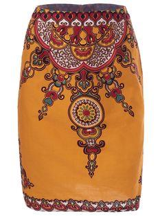 Ethnic Vintage Pattern Pencil Skirt For Women