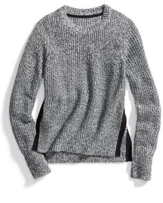 Stitch Fix Winter Essentials: Side-split sweaters are on-trend and modern. Find one in a marled knit for a winter-friendly texture.