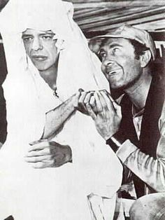 Birthday star Howard Morris (right) is best known for his role as Ernest T. Bass on the Andy Griffith Show. Despite only appearing in five episodes during the series' entire run, Ernest T. is one of the show's best remembered characters, and remains a fan favorite. Also pictured is Don Knotts as Deputy Barney Fife (in disguise). Howard was born on September 4, 1919.