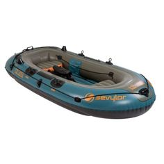 Buy the Sevylor Fish Hunter Inflatable Boat and more quality Fishing, Hunting and Outdoor gear at Bass Pro Shops. Kayaks, Gone Fishing, Fishing Boats, Fishing Rod, Pelican Boats, Surf, Kayak Accessories, Inflatable Kayak, Kayak Adventures
