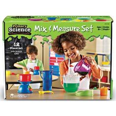"""Mix & Measure Set on www.amightygirl.com: """" Mix, measure, and learn key science concepts while you scoop, pour, weigh, and play with this Learning Resources Primary Science Mix and Measure Set! ... sturdy set of cups, spoons, and other measuring tools, which includes entertaining, educational activities and experiments.  Make mystery goo, slime, puff paint, and more, while learning the concepts of weight, volume, and even fractions. """""""