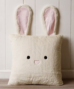 Look at this Cream Bunny Plush Faux Fur Pillow on today! Look at this Cream Bunny Plush Faux Fur Pillow on today! Kids Pillows, Animal Pillows, Throw Pillows, Homemade Pillows, Felt Pillow, Plush Pillow, Easter Toys, Baby Sewing Projects, Bunny Plush
