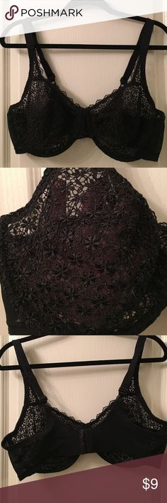 Black Playtex lace bra. The band and straps do show some wear on the inside but on the outside it looks brand new. Playtex Intimates & Sleepwear Bras
