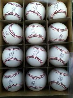 So many Kevin Kouzmanoff signed baseballs!