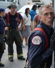 CHICAGO FIRE:  Herrmann strikes a pose while Severide looks on in the background. | Shared by LION