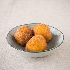 Gluten-free, vegan Sweet Potato Doughnuts - ready to eat.