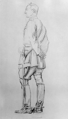 drawing by John Singer Sargent - Edmund Henry Allenby, Viscount Allenby Fine Art Drawing, Sketches, Drawings, Drawing Illustrations, Artist, Figure Drawing, Military Drawings, John Singer Sargent, Singer Sargent