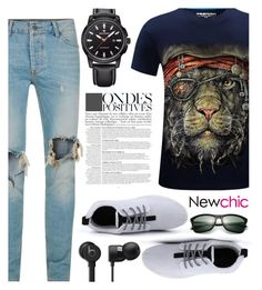 """NEWCHIC//20"" by tamarasimic ❤ liked on Polyvore featuring Topman, Anja, men's fashion and menswear"