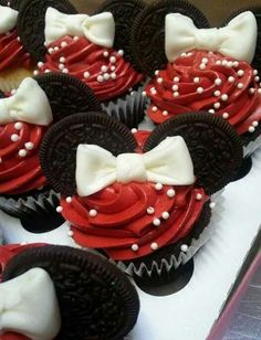 Minnie mouse cupcakes