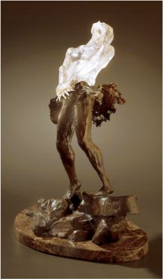 """""""Born Again"""" by Dean Kermit Allison    I love how this sculpture captures the daily struggle of Christ followers putting off the old self and being made new in Christ."""
