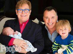 Sir Elton John, husband David Furnish and their 2 kids #gay #dads