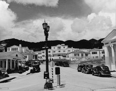 CENTRAL L.A. | HOLLYWOOD HILLS WEST:  Sunset Boulevard facing north at Sunset Plaza Drive, 1938.