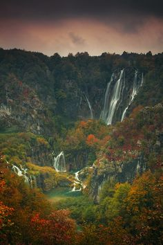 Plitvice Lakes National Park is the oldest national park in Southeast Europe, Croatia.