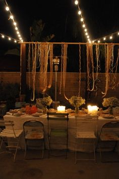 A Pretty Backyard DInner Party eclectic patio