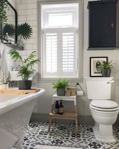 Modern Bathroom Decor Ideas Match With Your Home Design Style 02 Bathroom Windows, Bathroom Plants, Chair In Bathroom, Bathrooms With Plants, Bathroom Without Windows, Bathroom Stools, Bathroom Wall Panels, Kitchen Plants, White Bathroom Tiles