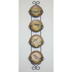 25  HANGING DECORATIVE PLATE RACK WITH PLATES - BIRDS by DECORATIVE PLATE RACK   sc 1 st  Pinterest & York 2 Tier vertical wall plate rack Tripar http://www.amazon.com/dp ...