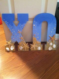 Seaside Sorority Letters by ToMyLittleWithLove on Etsy
