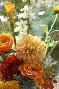 『年末のご挨拶用アレンジ』 http://ameblo.jp/flower-note/entry-10729784000.html