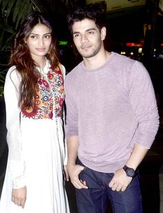 Athiya Shetty and Sooraj Pancholi spotted at the airport. #Bollywood #Fashion #Style #Beauty #Handsome