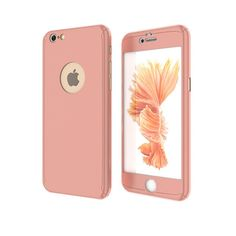 FLOVEME Phone Case For iPhone 7 6 6s Plus 5 5s PC Case Luxury Full Protective Cover + Tempered Glass Front Screen Protector