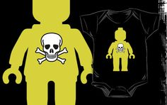 """""""Minifig with Skull Design No.2 by Customize My Minifig"""" Kids Clothes by ChilleeW 