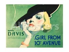 The Girl From 10th Avenue, Bette Davis on title card, 1935 People Art Print - 41 x 30 cm