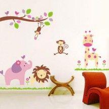 Lovely Zoo Wall Sticker for kids bedroom