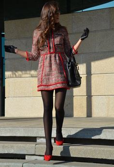 Holy preppy  Dresses, Bimba & Lola  Flats and El Corte Ingles  Bags