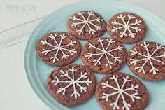 snowflake cookies - Ginger crinkle
